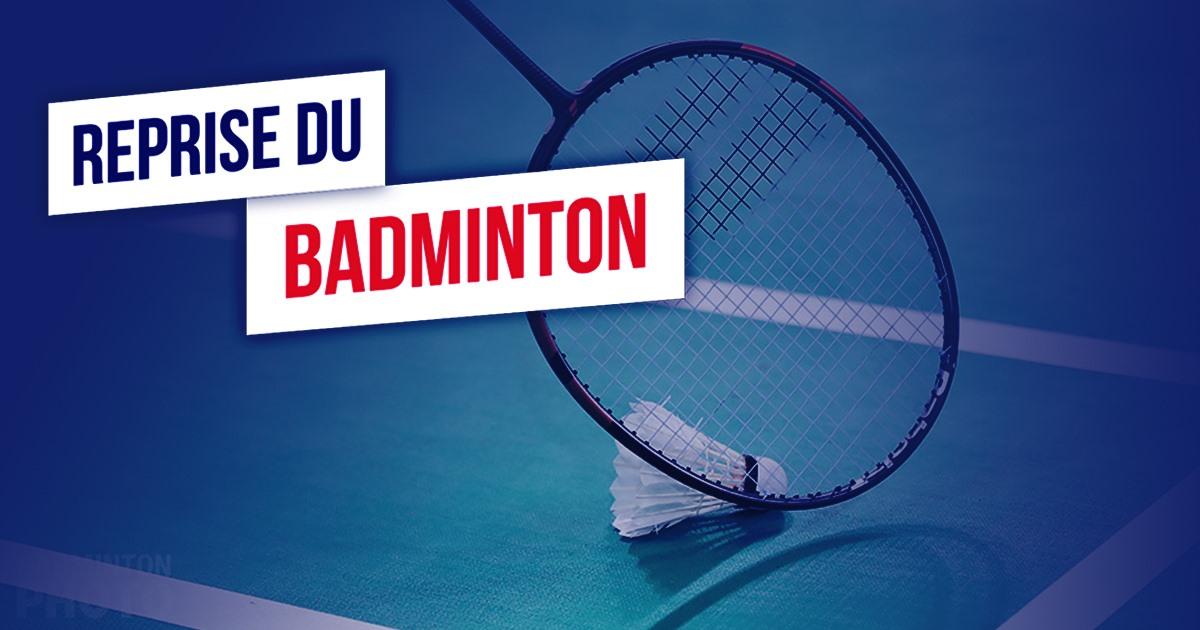Reprise du badminton
